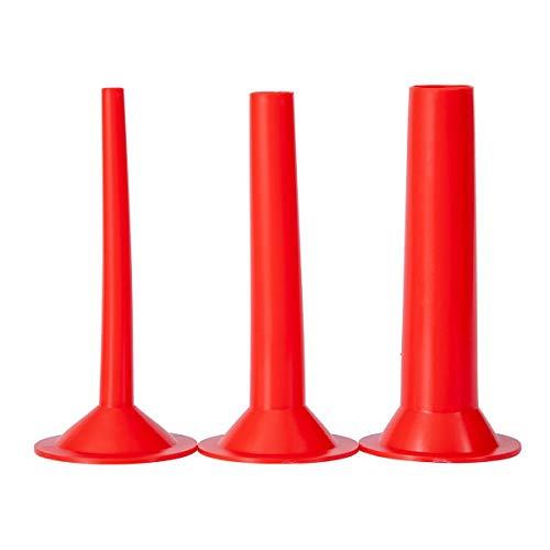 Wurstfülltrichter für #10-#12 Fleischwolf , Flansch: 75mm, Rohrdurchmesser: Ø 10mm/20mm/30mm(aus Kunststoff 3-er Satz)