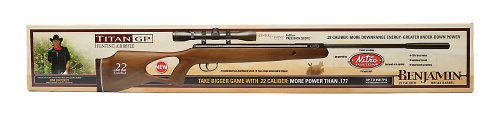 Benjamin BW8M22NP Titan NP Wood Stock Nitro Piston Hunting Air Rifle with 4x32 Scope (.22-Caliber)