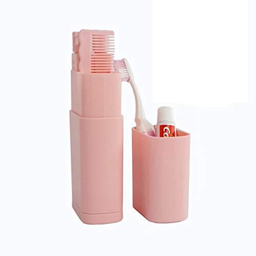 Zhou Vacances Portable Wash Coupe, gargariser Tourisme Multifonction sous-Bouteille de Toilette de Stockage Trousse de Toilette yan (Color : Pink)