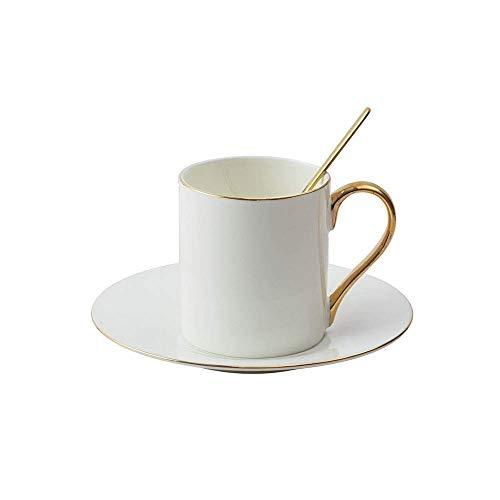 Tazas de café de cerámica y platillos conjuntos con cuchara, ideas de regalos de cumpleaños personalizados únicos para mujeres Mamá Madres profesores Bebidas calientes elegantes Modernas tazas de té y