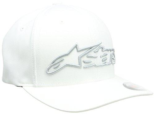 Alpinestars Herren Baseball Cap Blaze Flexfit, Gr. Medium, Weiß (White/Silver)