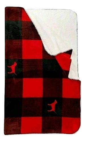 """Pink Sherpa Blanket Color Plaid Red Cozy 50""""x60"""" Super Soft NWT"""