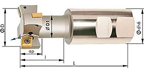 T-Nutenfräser m. IK. D 25mm Z 2