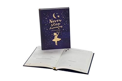 Traumtagebuch für deine Träume - das Tagebuch für luzide Träume, Klarträume, Tagträume und Albträume. Hardcover Buch mit Goldfolie in 155x225 mm und ... Gold und Blau. Stay Inspired! by Lisa Wirth