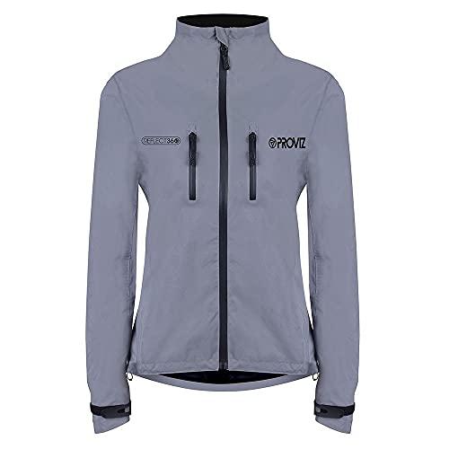 Proviz Women's 360 Cycling Jacket Reflective, Size 10, Silver/Relfective