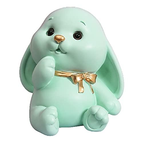 TJUYT El Banco de Dinero de la Moneda de Conejo, el Banco de Dinero Creativo, Puede almacenar 650 Monedas, los Primeros Regalos de cumpleaños for los niños, Hace (Color : Green)