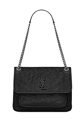 Monogram Front Flap Bag. Size:28.0*20.0*8.5 CM. 100% Calf Leather,Grosgrain Lining. Brushed Silver-Toned Metal Hardware,Chain And Leather Multipurpose Shoulder Strap. Central Compartment And Open Back Pocket.