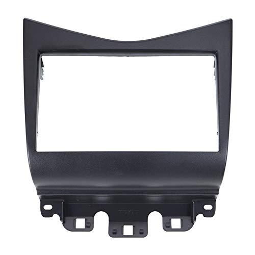 Hermoso Doble DIN Fascia en Forma for Honda Accord 02-07 de DVD de Radio estéreo de CD Panel Tablero de instalación de Marcos de Montaje Kit de Acabado de la Cara FAsica (Color : Black)