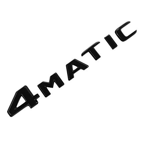 Andifany 4MATIC Schwarz Auto KofferraumtüR KotflüGel STO?Stange Abzeichen Emblem Klebeband Aufkleber Ersatz für Mercedes-