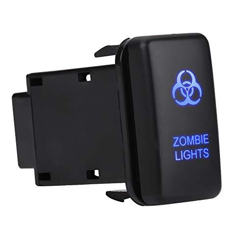Interruptor basculante LED EVGATSAUTO, ABS 12V 0.5A, interruptor basculante de encendido automático con LED azul para Hilux Landcruiser VIGO(LUCES ZOMBIE)