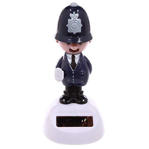 Puckator ff66Englischer Polizist Figur Solar Kunststoff dunkelblau/schwarz/rosa/grau 5,5x 5x 10,5cm