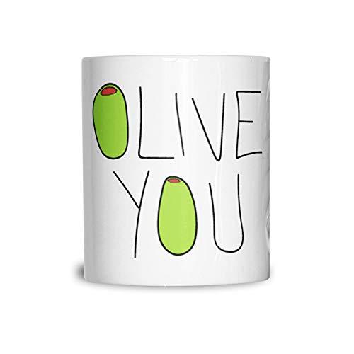 La Saint Valentin Tasse en céramique Olive Vous Slogan White 11OZ