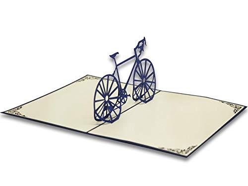 Tarjeta de felicitación Origami, La Bici