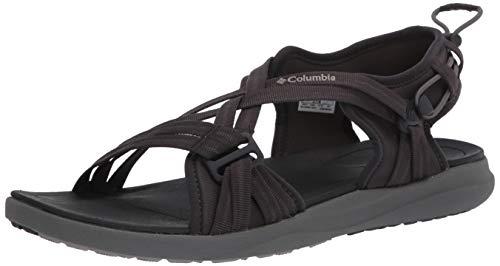 Columbia Sandal, Sandalia Mujer, Black (Shark, Ti Titanium 011), 42 EU