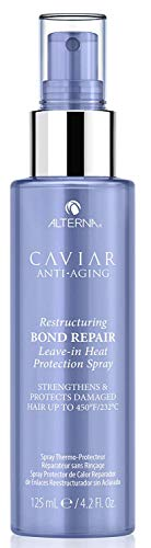 Caviar Anti-Aging Restructuring Bond Repair Leave-in Heat Protection Spray, 4.2 Ounce