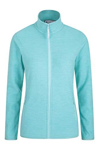 Mountain Warehouse Veste Polaire zippée Snowdon - Sweat-Shirt Respirant pour Femme - Séchage Rapide et antibactérien - pour Les Voyages, Hiver Menthe 46