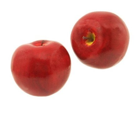 Allstate Floral Artificial Decorative Faux Fruit for Home Decor - 90 mm Red Apple