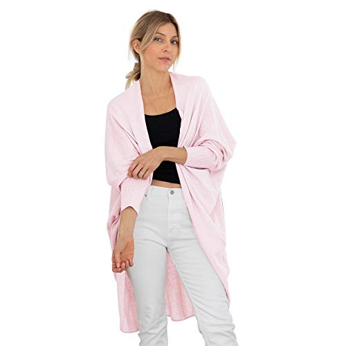 Mer Sea & Co Luxury Kimono Almost Weightless Drape - Pink - Cashmere and Cotton