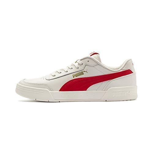 Puma Caracal Sneaker Unisex-Erwachsene, Weiß (Whisper White-High Risk Red), 44 EU