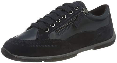 Geox Damen D AGLAIA C Sneaker, Navy, 39 EU
