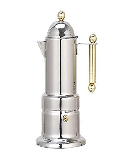 Olla de mano de acero inoxidable 304/olla concentrada de moka con filtro/papel de filtro/anillo de sellado/cuchara de polvo/4 tazas/máquina de café casera