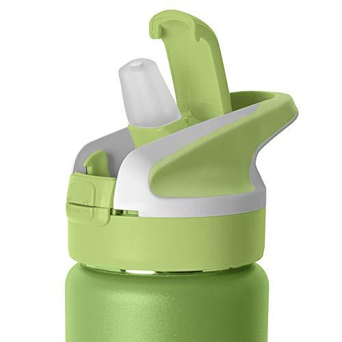 PracticFood Tappo di ricambio Laken per bottiglie di bocca larga tipo Summit, Jannu, Classic o Tritan, con apertura automatica e chiusura di sicurezza, colore verde