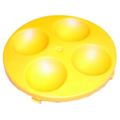 ATIKA Ersatzteil | Radkappe (gelb) für Gartenhäcksler ALF 2300 / ALF 2500 / ALF 2800 / AMF 2500 / AMF 2800 / LHF 2800