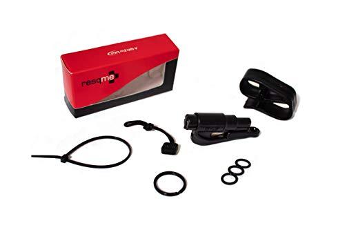 RESQME Original Schlüsselanhänger Auto Fluchtwerkzeug (schwarz) mit Visier-Clip und Umhängeband Vorteilspack