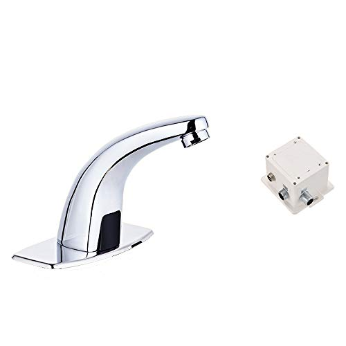 Great Price! Rebily DC Sensor Dual-use Induction Faucet, Single Cold and Heat Induction Brass Faucet...