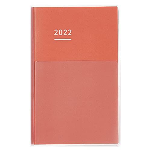 コクヨ ジブン手帳 DAYs 手帳 2022年 A5 スリム レッド ニ-JD1R-22 2022年 1月始まり
