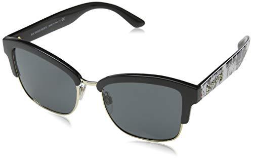 BURBERRY 0Be4265 372387 54 Gafas de sol, Negro (Black/Gold/Grey), Mujer