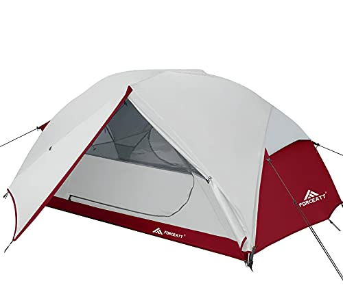 Forceatt Tent for 3 Person is Waterproof and Windproof, Camping Tent for 3 to 4 Seasons, Lightweight Aluminum Pole Backpacking Tent Can be Set Up Quickly, Great for Hiking,Camping and Backpacking.