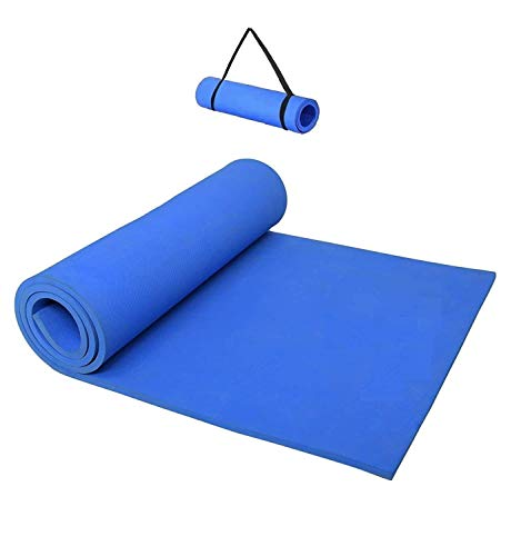 Techblaze 4mm Thickness Yoga Mat with Carrying Strap for Home & Gym Workout, Mat for Yoga, Meditation, Plank & Abs Exercises Yoga Mattress for Men & Women (72inchX24inchX4mm)- Color May Vary