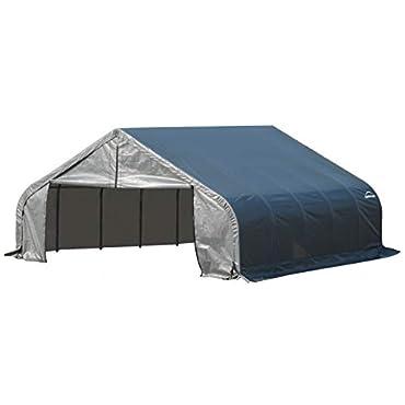 ShelterLogic 80017 Green 18'x20'x12' Peak Style Shelter