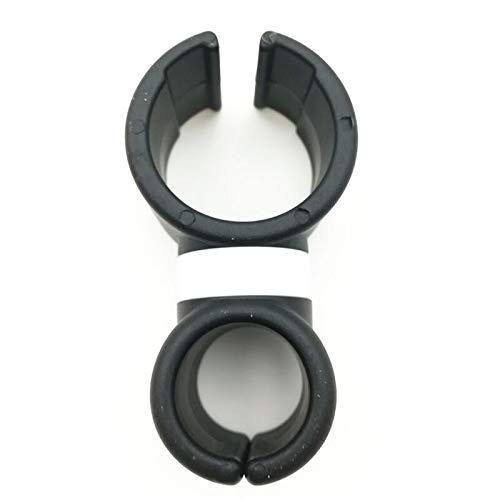 Qivor Soporte de Soporte de Montaje de ventilación de Aire Universal 360 Bicicleta giratoria Bicicleta Tenedor de teléfono Celular (Color : Black)