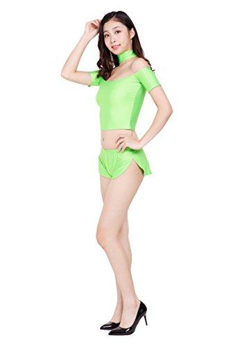 ツルツルニット ゆったりさが可愛すぎる ショートパンツ ホットパンツ 超特大100kgサイズ, 薄緑