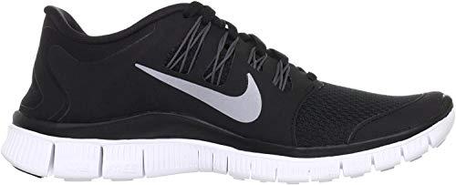 Nike Womens Free 5.0+ Running Shoe (7.5 B(M) US, Black/Metallic Silver/Dark Grey/White)