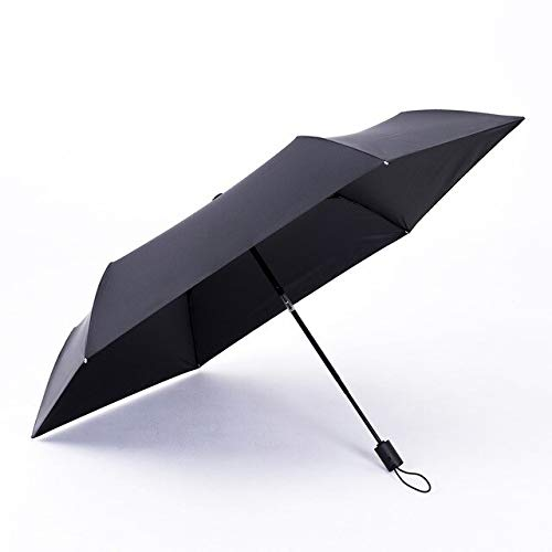 NJSDDB paraplu Automatische paraplu Regen Vrouwen Zomer 280T Vouwparaplu's Cool Down Anti UV Ultra-licht Heldere zon Paraplu Winddicht, Zwart
