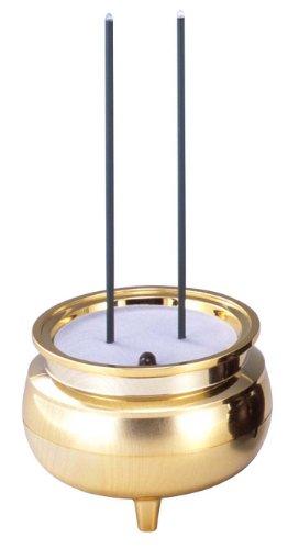 Takita Shoten Buddhist Electric Incense Stick Gold LED Light