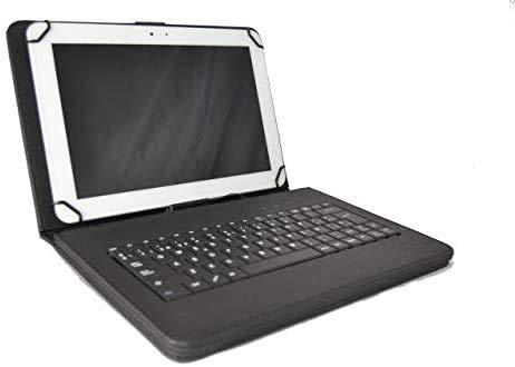 theoutlettablet Funda con Teclado extraíble en español (Incluye Letra Ñ) para Tablet LG G Pad 5 10,1' - Type-C Color Negro