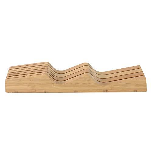 ProCook Messerblock - Schubladeneinsatz - Bambus - 7 Aufnahmen