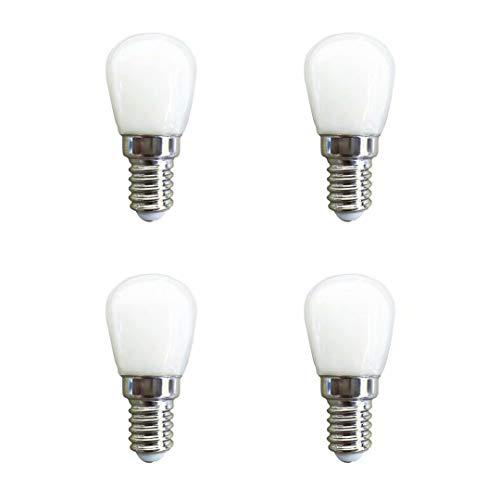 E14 LED Lampe,1.5W 120LM,Warmweiß 3000K,Entspricht 15W Glühbirnen,AC 220-240V,Nicht dimmbar, E14 Edison Screw LED Leuchtmittel für Kühlschrank/Mikrowelle/Dunstabzug/Nähmaschine,4er-Pack