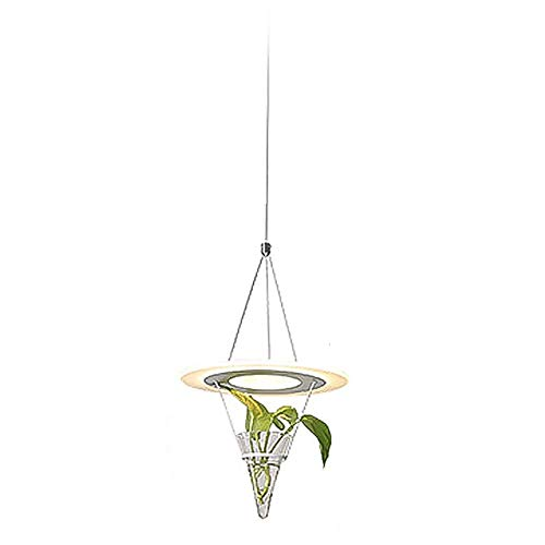 Round Acrylic Pendant Light, LED 12w Adjustable Decoration Glass Hanging Light Pendant Lamp for Balcony Dining Room Chandelier-Three-Color Dimming 36w