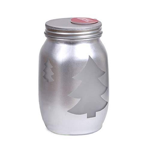Darice Christmas Tree Mason Jar Silver