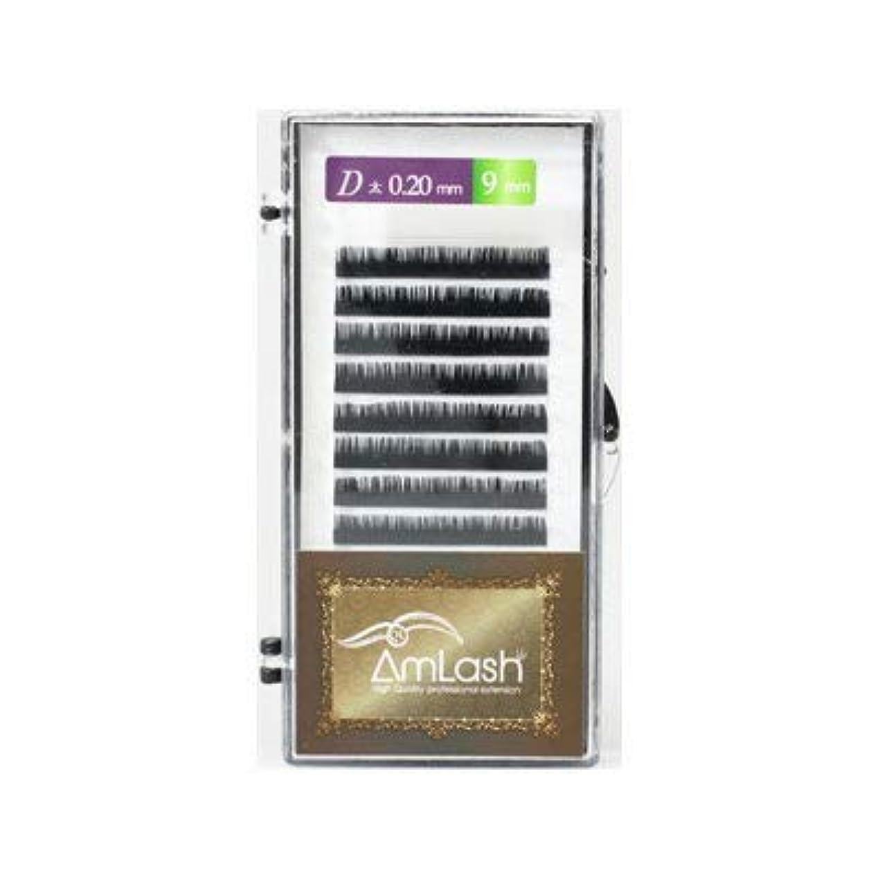 セーブ肌提供されたAmlash(アムラッシュ)ハイクオリティエクステ Dカール 0.20mm×9mm