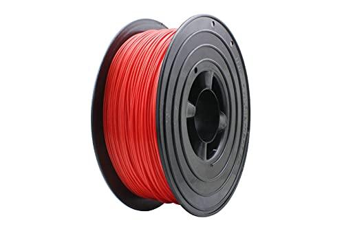 SPACE 3D Drucker 1kg Filament Rolle PLA 175mm Schwarz Transparent Gelb Rot top Qualität B-Ware (Rot)