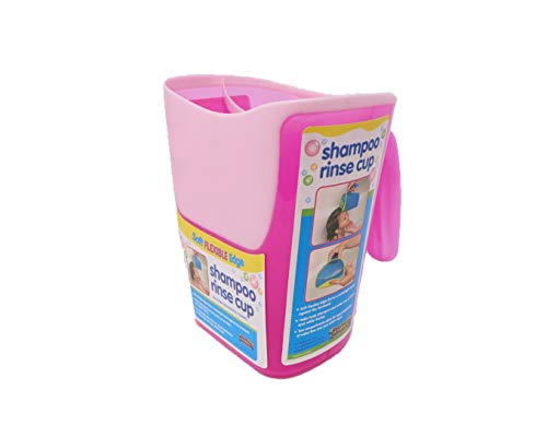 Shampoo Rinse Cup for Kids | Baby Bath Pail | Tear Free Baby Rinser Pail - Three Color Choices