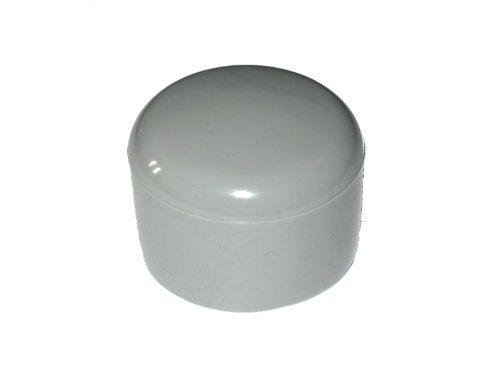 Kappe für Rundrohr D = 40 mm L = 23,50 mm - GRAU - PVC MENGE wählbar, Menge:20 STÜCK