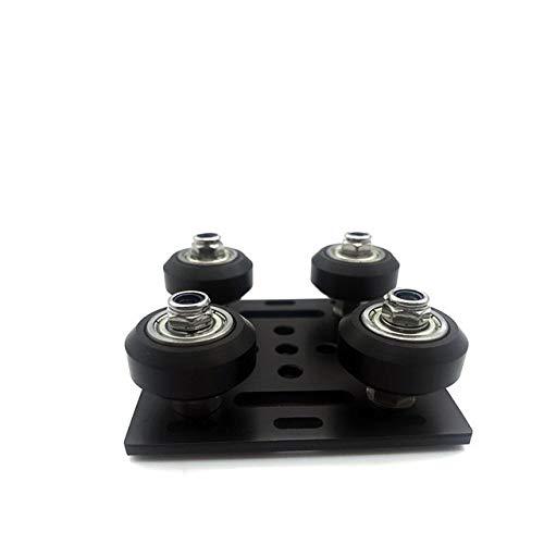 Farleshop 1pc 3D Printer Part For Openbuilds V Gantry Plat Set Special Slide Plate For 2020 Aluminum Profiles V-slot Mini Four Roulette (Color : Black)