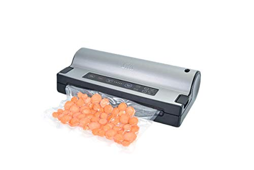 Solis Vakuumiergerät, Für trockene, feuchte und empfindliche Lebensmittel, Pulse- und Marinierfunktion, Mit Rollenfach und Folienschneider, Vac Prestige